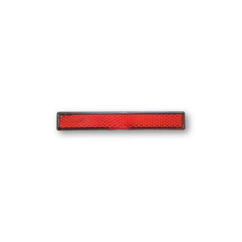 Rückstrahler selbstklebend rot 16x103 mm Reflektor  Motorrad Kennzeichenhalter