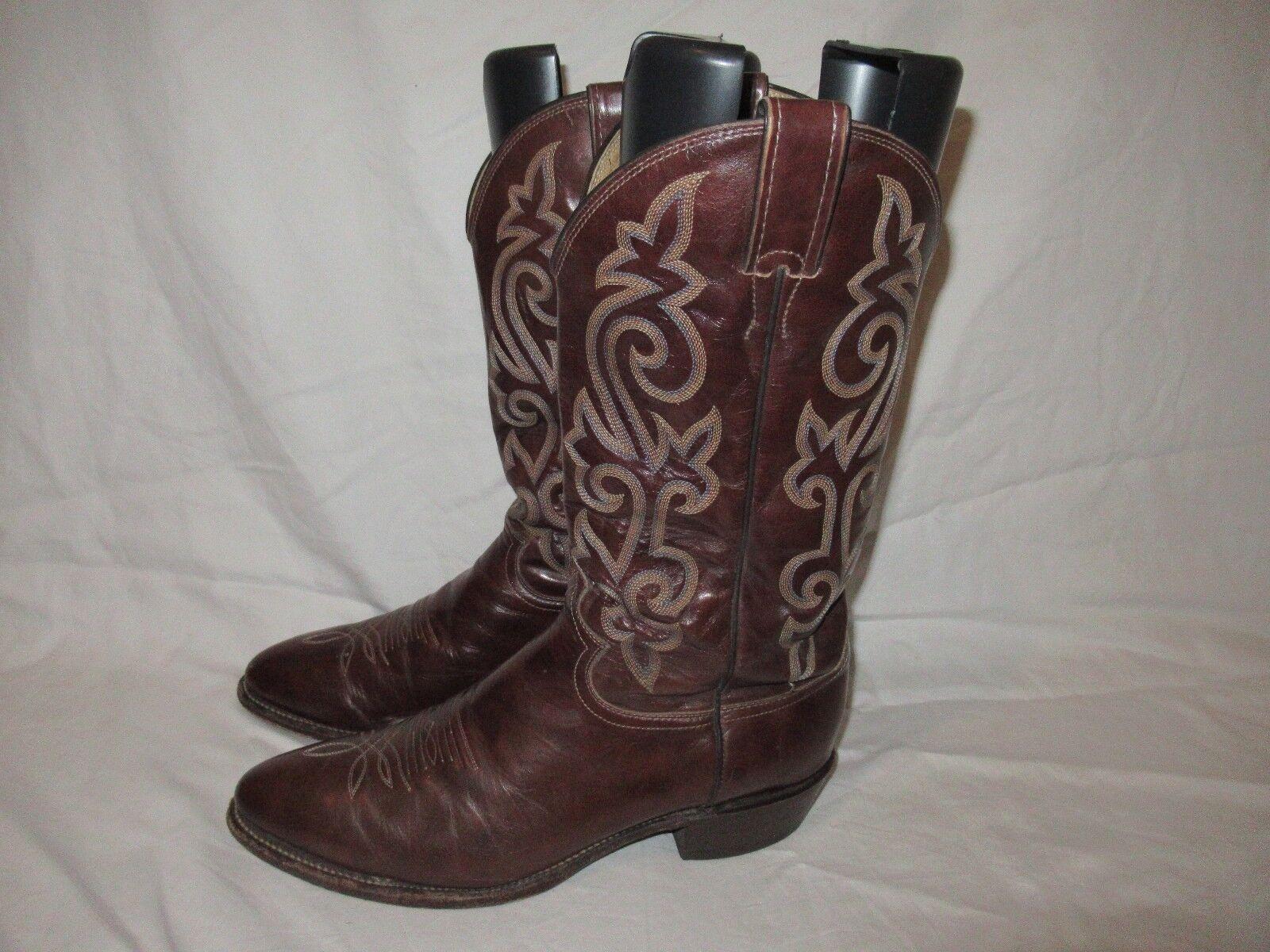 Uomo Justin Western Cowboy riding Stivali Size 10.5 D Style Style Style J1487 Pelle  A e20799