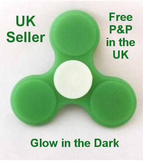GLOW IN THE DARK TriFidget Spinner 1 2 5 10 50 Gift REDUCED