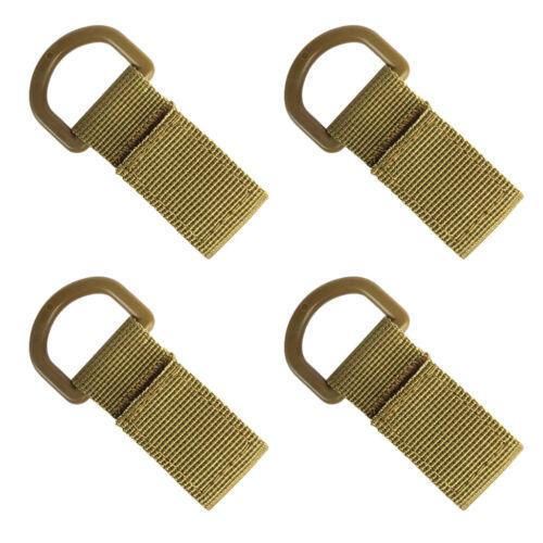 4 stücke Molle Tactical Gear Clip Nylon Gürtel Schlüsselanhänger
