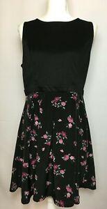 Xhilaration Size SM Women/'s Floral Print Sleeveless High Neck Shift Mini Dress