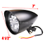 Black-billet-head-light-Harley-sportster-softail-chopper-bobber-dyna-dot-alloy thumbnail 3