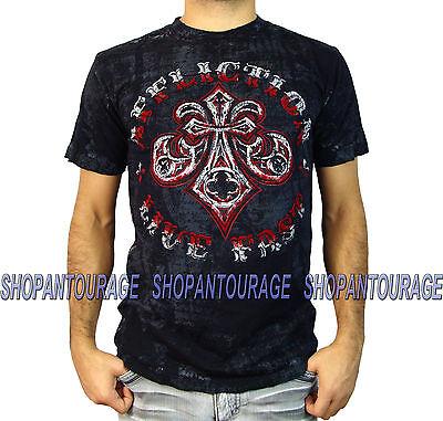 Affliction Royale Connect A12144 New Men`s Black T-shirt