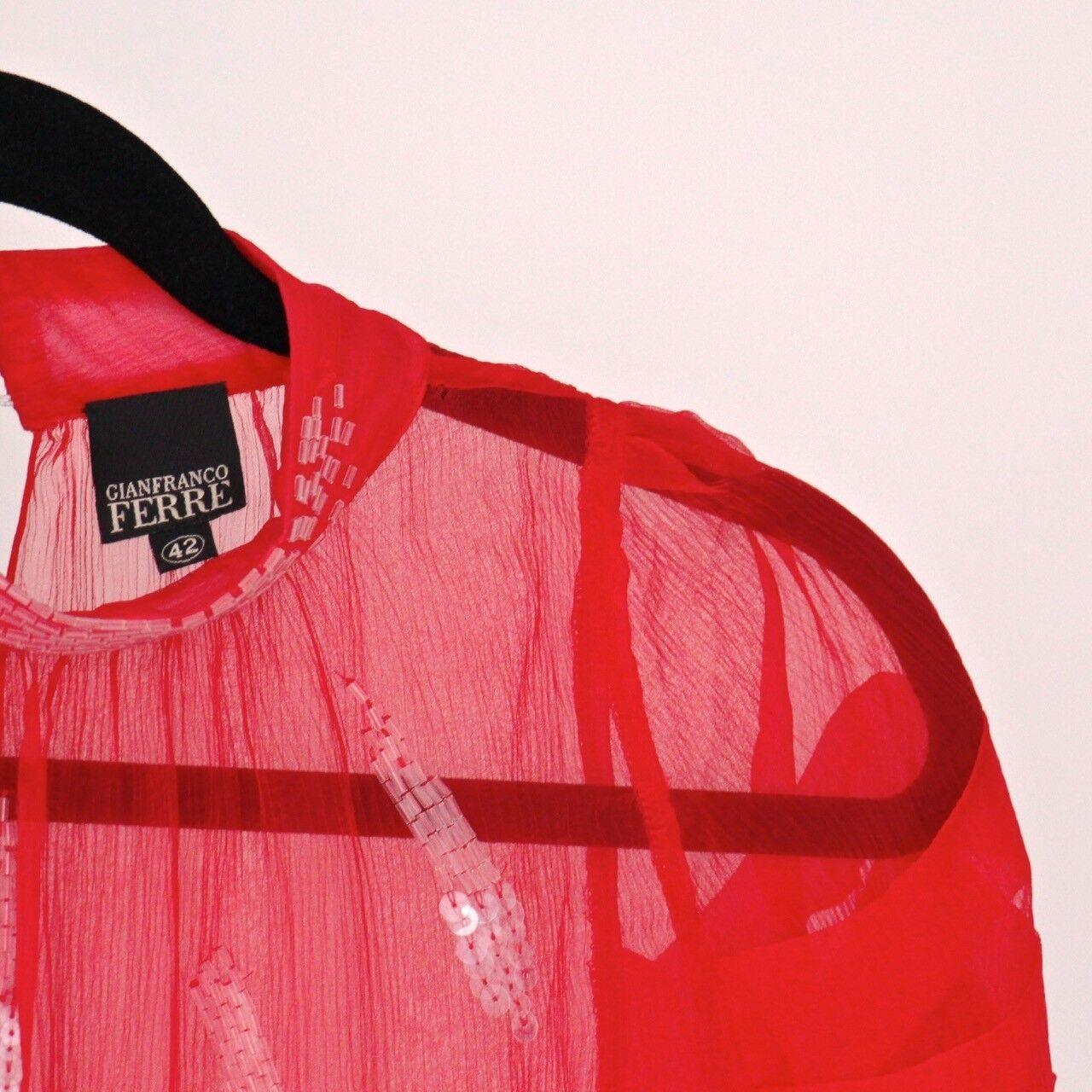 GIANFRANCO FERRE FERRE FERRE camicia di seta, rosso, taglia M, IT 42 963e95