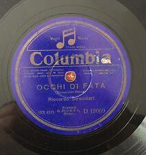 """RARE 78RPM 12"""" RICCARDO STRACCIARI OCCHI DI FATA/APRILE COLUMBIA BLUE SILVER"""