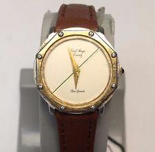 RARE Vintage Carl Ange Lady Luxury Analog Quartz Watch Hours~New Band Battery