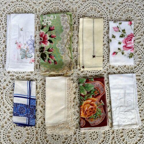 Lot #V14 Vintage Hanky Lot One Dozen Handkerchiefs