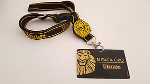 034-EL-REY-LEON-EL-MUSICAL-034-BUTACA-ORO-PASS-CARD-LANYARD-DISNEY-THE-LION-KING