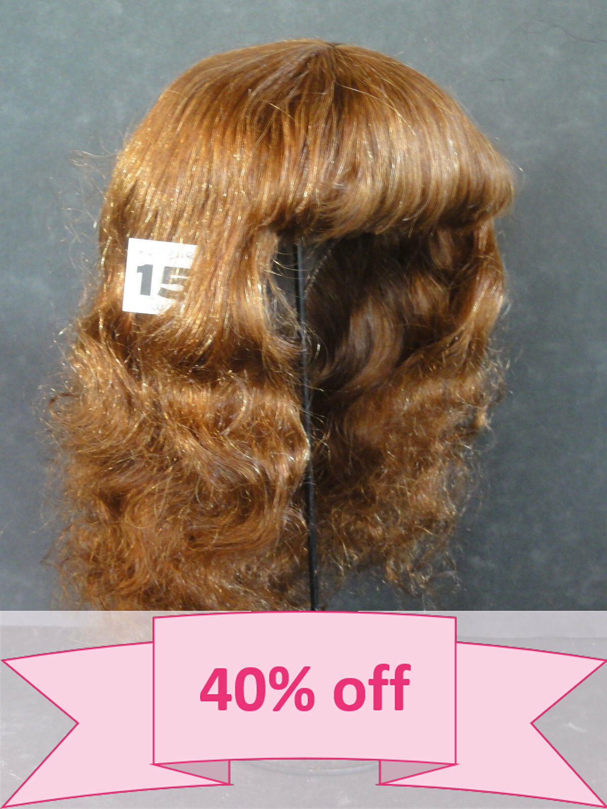 40% OFF - Human Hair DOLL WIG size 18.3   46.5cm . Long rosso-Marrone hair. BRAVOT