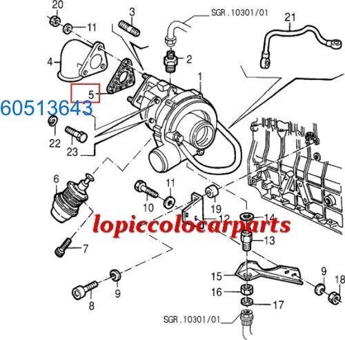 60513643 Guarnizione Turbo Turbina Alfa33 e Alfa 75 Turbo Guarnizione Diesel  Originale 5dbf1a