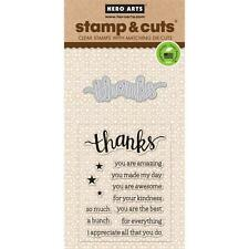Hero Arts Stamp & Cut Thanks #840 DC152 Stamp with Die