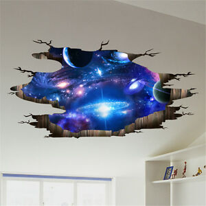 Image Is Loading Galaxy Planet Space Wall Sticker Kids Baby Bedroom