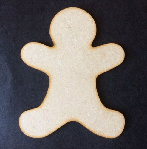 Christmas Gingerbread Man X 10 Wooden Craft Shape 30mm 3cm 3mm Mdf wood