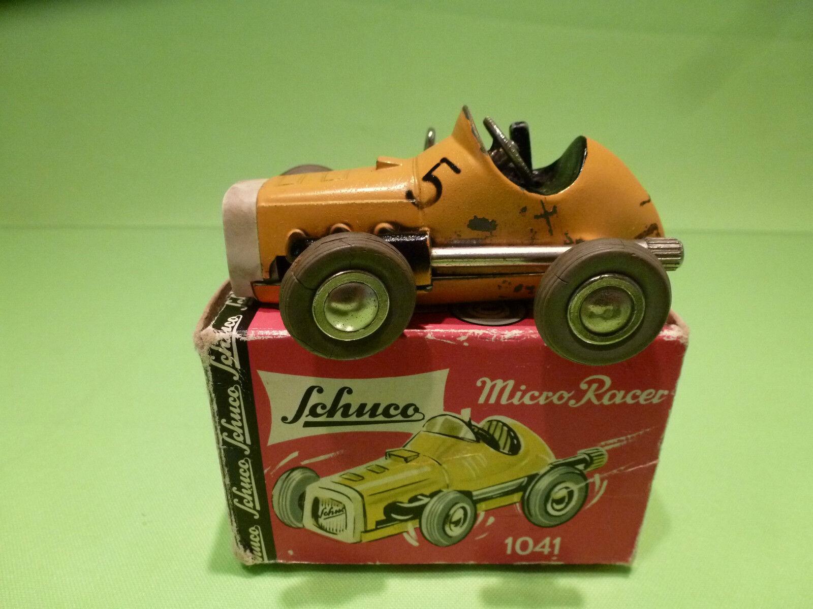 SCHUCO 1041 MICRO RACER - amarillo No 5 - GOOD CONDITION IN BOX