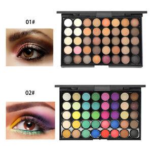 Maquillaje-profesional-40-colores-sombra-de-ojos-mate-paleta-de-sombras-SPF