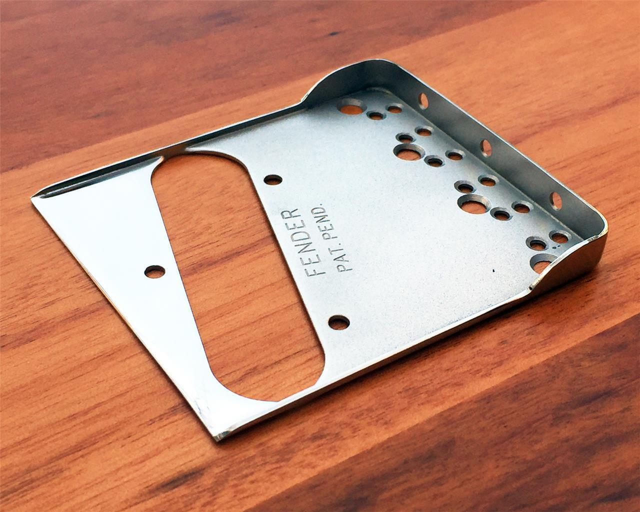 Fender Vintage Style Telecaster Bridge Plate w DBL Long Notches for Am. Standard