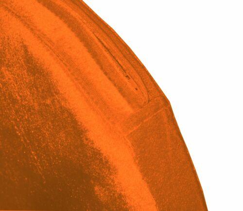 mo95r Orange Shimmer Velvet 3D Round Shape Seat Cushion Cover Custom Size