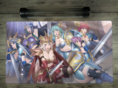 YuGiOh Valkyrie Deck Trading Card Game TCG Mat Playmat Free High Quality Tube