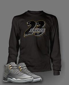 d13e696fc38498 23 Savage T Shirt To match Jordan 12 Cool Grey Shoe Men s Tee Shirt ...