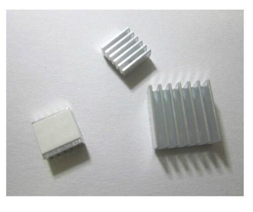 2 X One Set of 3pcs Adhesive Aluminum Heatsink Kit for Raspberry PI NEW