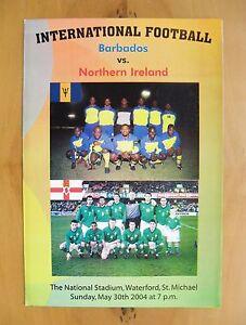 BARBADOS v NORTHERN IRELAND 2004 Excellent Condition Football Programme - London, United Kingdom - BARBADOS v NORTHERN IRELAND 2004 Excellent Condition Football Programme - London, United Kingdom