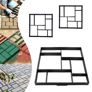 Quadrat-3Stk-Pflasterform-Gehweg-Giessform-Schalungsform-Schablone-Betonpflaster