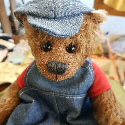 für ca 20-25 cm Bären-- HANDARBEIT jeans Schildcap