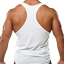 LIFTER SILHOUETTE GYM VEST STRINGER BODYBUILDING MUSCLE TRAINING TOP SINGLET