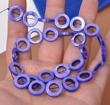 wholesale 1 strand charm shell spacer loose circle beads donuts bead 15mm