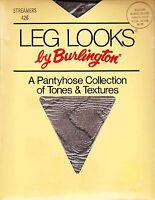 Burlington Textured streamers Pantyhose Medium Black & Silver Sandalfoot