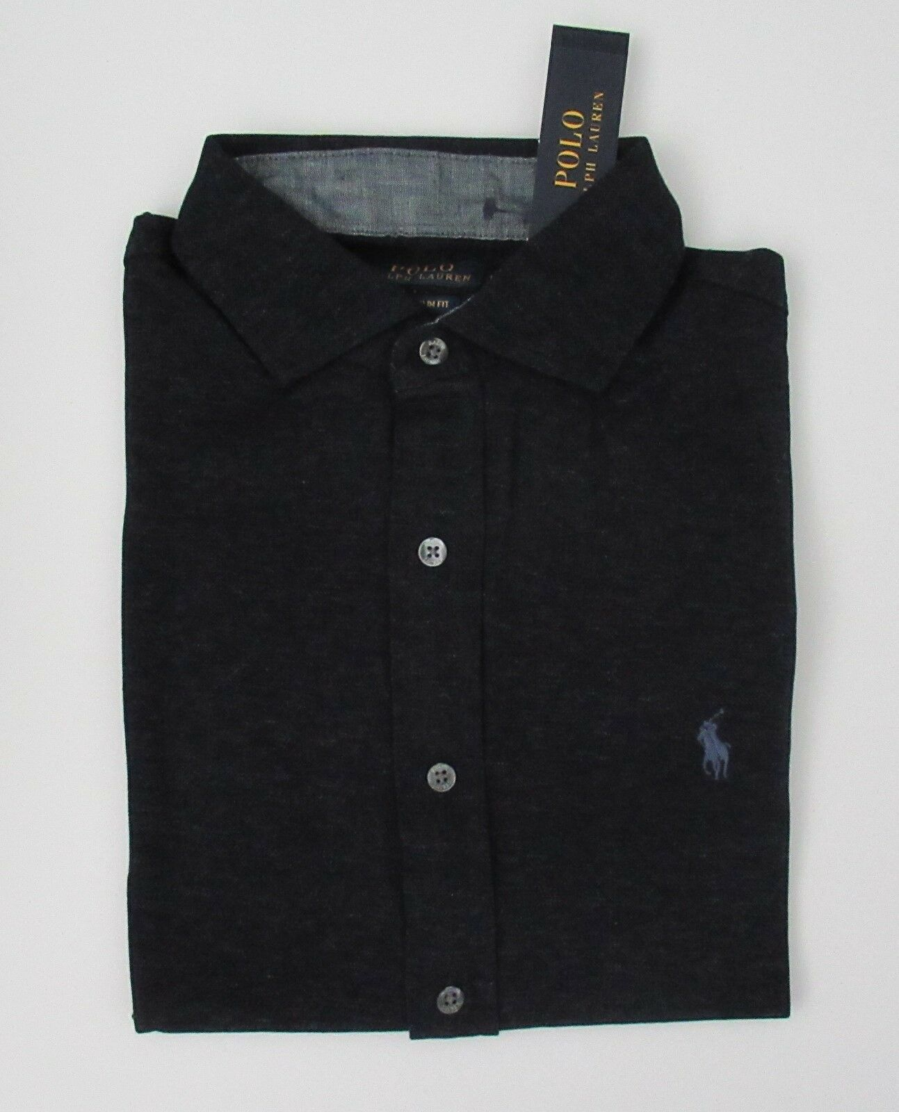 NWT Ralph Lauren SS Custom Slim Fit Button Front M Mesh Polo Shirt M Front L XL 2XL NEW 0bf895