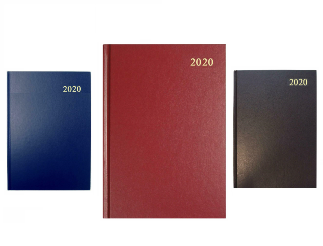 A4 2018 Day to Page Diary with Black Hardback Cover
