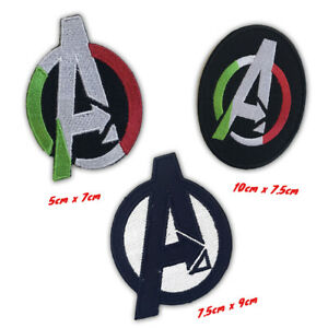 Comic Character Avenger Logo Badge Iron on Sew on Embroidered Patch