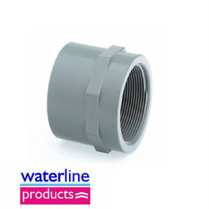 Details about Socket Plain/BSP Threaded Adaptor Grey uPVC Pipe Fitting
