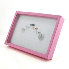 pink 100 Ring Jewellery Display Box Tray Show Case Organiser Earring Holder