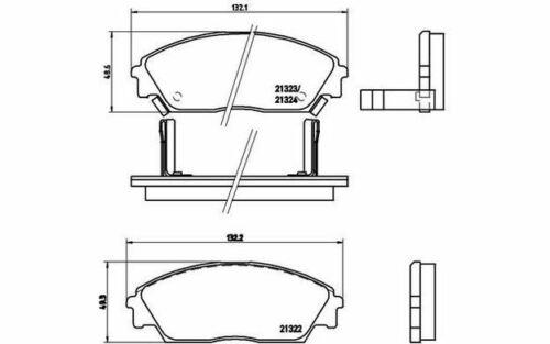 4x BREMBO Plaquettes de Frein Avant pour HONDA CRX CIVIC PRELUDE P 28 016