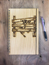 Goat In Fence Lined Journal 6x9 Can Be Made Left Handed