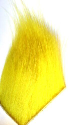 Chartuse. ICE FLIES Icelandic horse hair for fly tying Flurosent Yellow