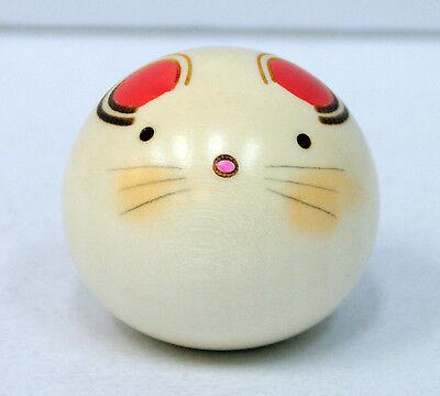 Usaburo Kokeshi Japanese Wooden Doll 11-9 Yura Koro Nezumi (Rat)