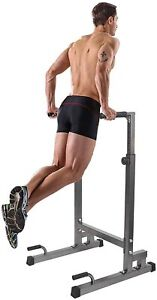 Power Tower Workout Dip Station MultiFunction Home Gym Strength Training Fitness