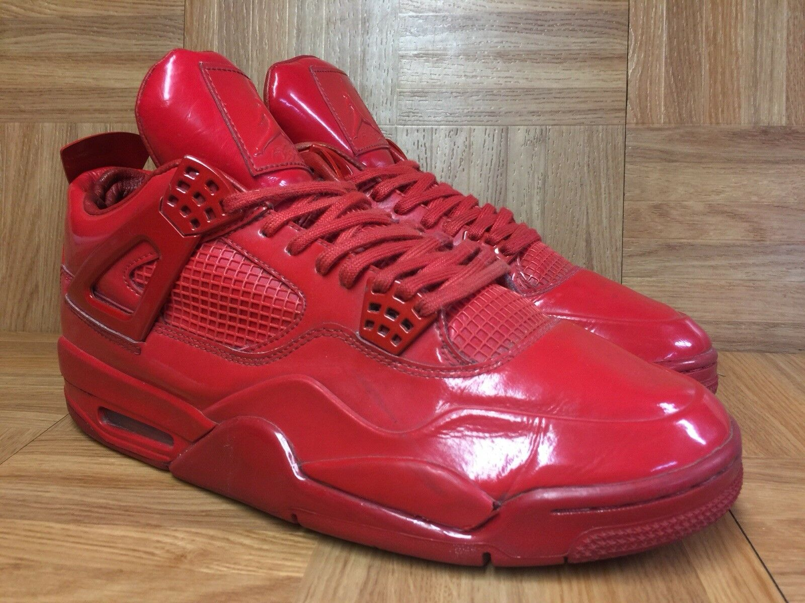 854ca7bf6b0 Vintage Nike Air Jordan 4 IV 11LAB4 University Red Patent LE Sz 12  719864-600 ncrllw4372-Athletic Shoes