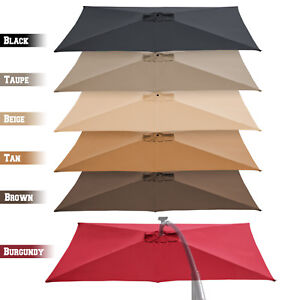 Image is loading 10-039-x6-5-039-Cantilever-Offeset-Patio-  sc 1 st  eBay & 10u0027x6.5u0027 Cantilever Offeset Patio Umbrella Replacement Canopy Top ...