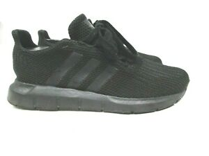 Gently-Worn-Men-039-s-ADIDAS-034-SWIFT-RUN-034-Black-Running-Shoes-Sneakers-sz-6-5