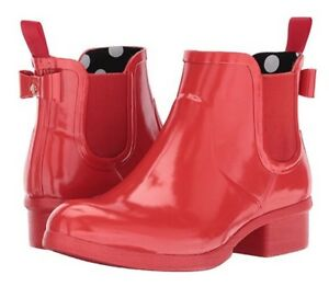1a8f12741136 New Kate Spade New York  178 Red Telly Rain Boot Bootie Size 10 ...