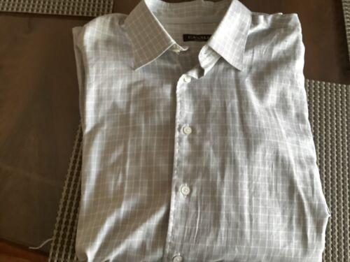 Canali Men's Checkered Shirt Grey Size XXL Mint Co