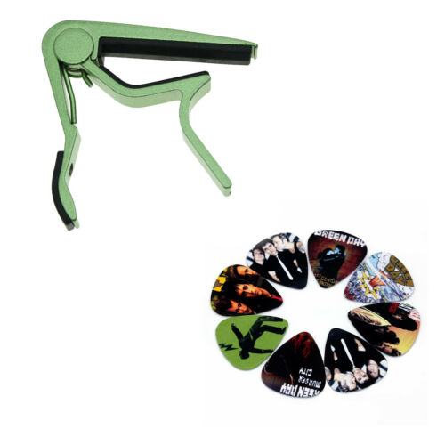 10 Greenday Guitar Picks Green Capo Accessories ABS Plectrums Bundle Lot Spare