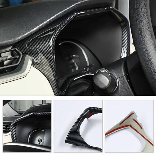 Carbon Fiber Look Dashboard Meter Frame Cover Trim For Toyota RAV4 2019-2020