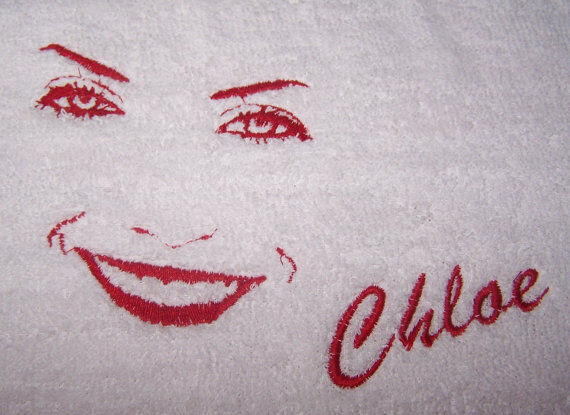 """personalized Embroidered Face Outline Bath Towel""100% Cotton Uitgebreide Selectie;"