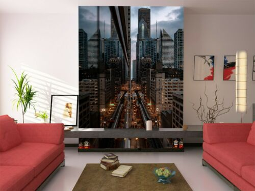 Details about  /3D Building City Car B320 Transport Wallpaper Mural Self-adhesive Removable Wend