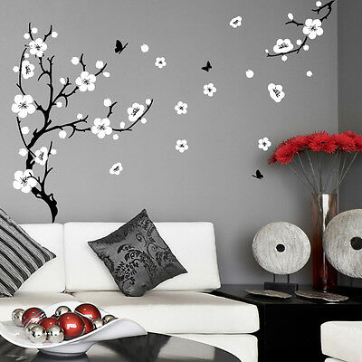 Plum Blossom Tree Flower Wall Stickers Vinyl Art Decals Living Room Bedroom Ebay
